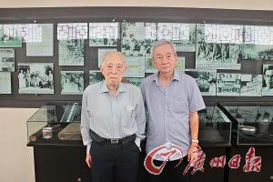 华支战士李康希(左)和吕水涯。