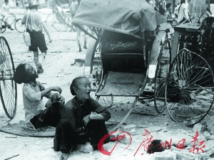 日军占领新加坡后实施屠杀的场面。