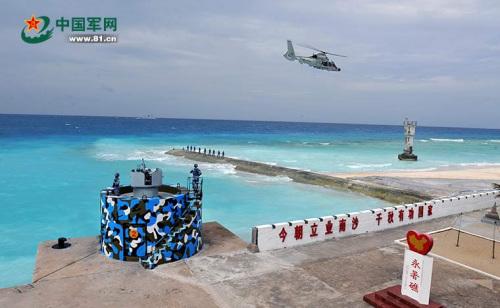 国家南沙岛礁守备部队锻炼
