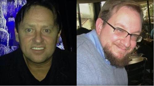 枪击案嫌犯、该校的45岁讲师蓝姆(左),与被害人前史传授施密特。
