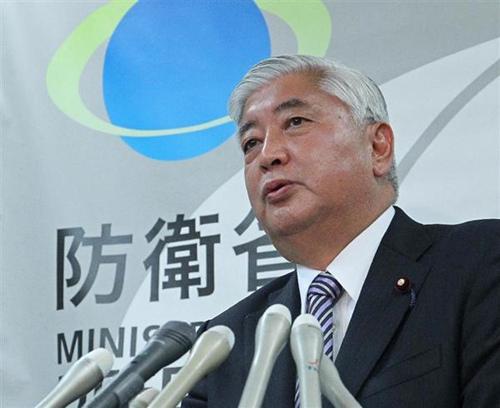 材料图:日本防守大臣中谷元。