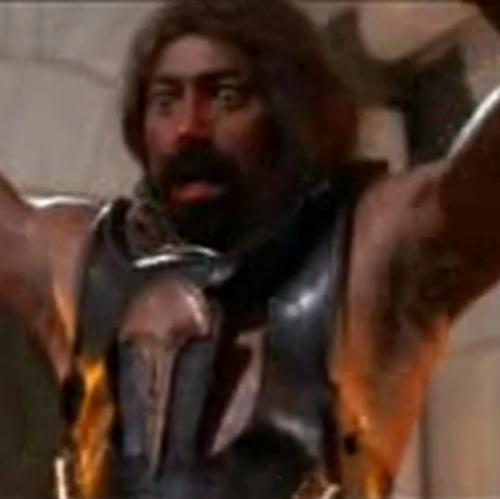 张伯伦在影戏中被匕首刺死。图像来历:视频截图