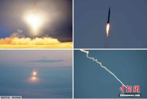 资料图:朝鲜人民军进行导弹发射训练。