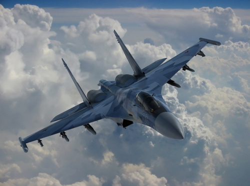 材料图:俄罗斯苏-35战争机
