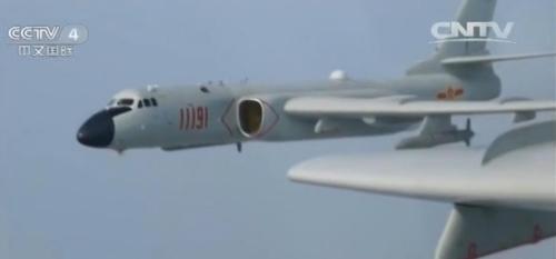 轰-6K轰炸机赴远海履行锻炼使命