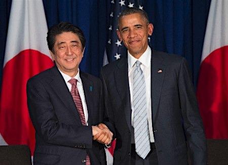 奥巴马就开放日本市场向安倍施压 批其不当竞争