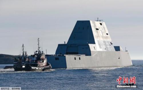 美巨无霸驱逐舰首航 外形科幻可有效避开雷达(图)