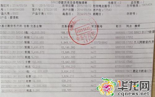 廖素锐结尾一笔薪水打款日期是本年3月11日。受访者供图 华龙网发
