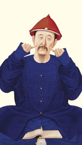 皇帝賣萌。圖片來源:故宮淘寶官方微博