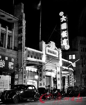 上世纪四十年代,长堤一带食肆林立,六国饭店更是灯火通明。