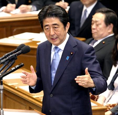 安倍提及修改日本宪法第九条 拟明确写进自卫权