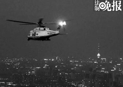 昨夜,警方间断七年出动警用直升机护航烟花燃放 (警方供图)