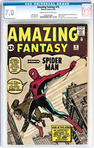 《蜘蛛侠》创刊号封面。(图片来源:香港《文汇报》)