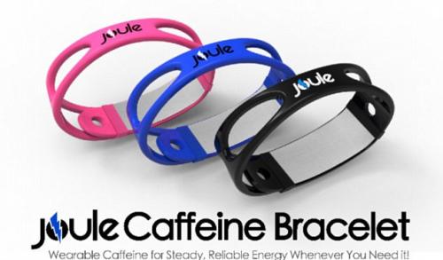 加拿大青年创造的咖啡因带,戴上它就不必去咖啡店列队买咖啡了。