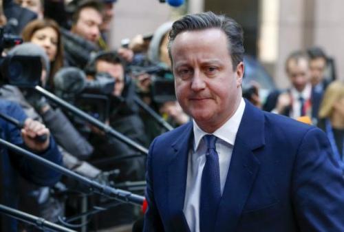 英国首相卡梅伦参加欧盟峰会。