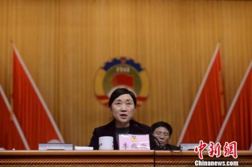 李微微当选为湖南省政协主席。唐小晴 摄