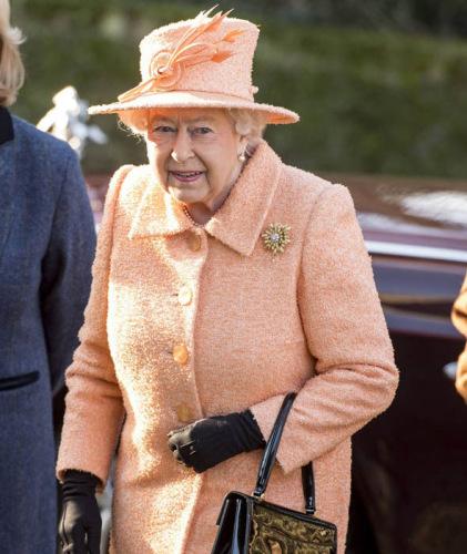资料图:英国女王。