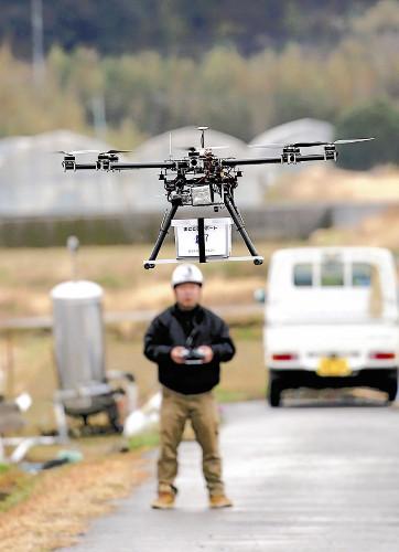 方便偏远地区 日本实施小型无人机送货实验(图)