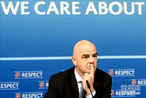 因凡蒂诺的欧足联布景大概让他受害。图像来历,新华社。
