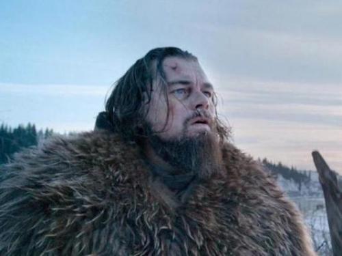 迪卡普里奧在電影《荒野獵人》中的造型。