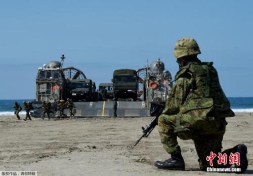 資料圖:日本自衛隊離島防衛演練。