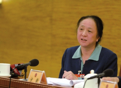 方新在北京代表团第五次全团会议上发言。