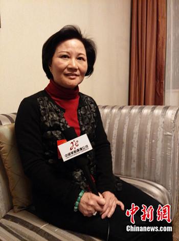 天下人大代表、国家特别教导杂志主编陈云英 (民生 摄)