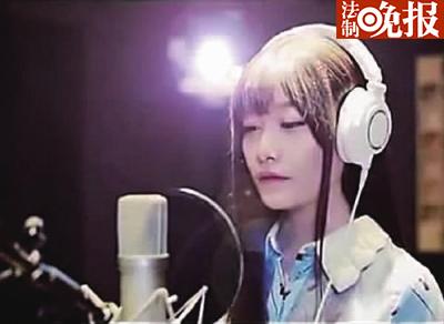 风小筝也是一名网络歌手,这是她拍摄的MV截图