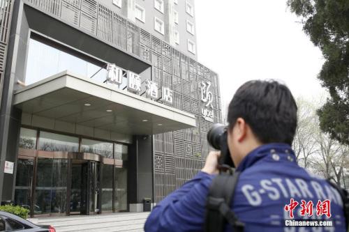 """媒体记者重视北京""""和颐旅店女生遇袭""""事情。 图像来历:视觉国家"""