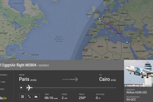 飞机消失位置图(图片来源:ABC)
