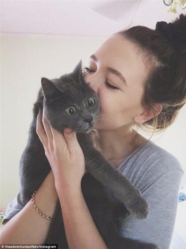 女主人对这只猫猫十分宠爱。