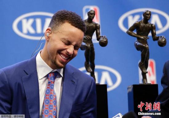 库里是历史首位全票当选的MVP