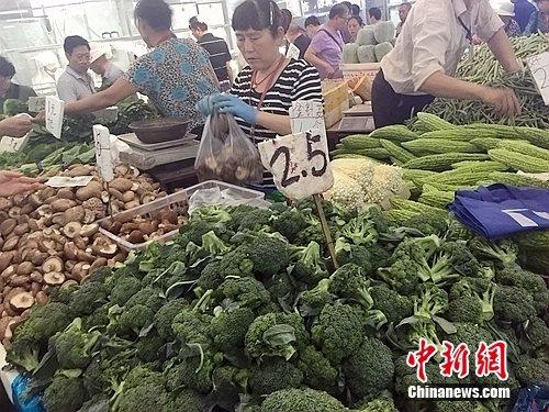 北京西城区太平天和菜市场内。中新网 种卿 摄