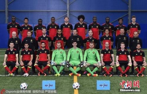 比利时队全家福。图片来源:Osports全体育图片社