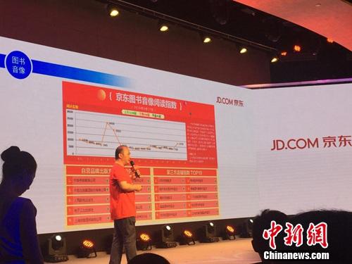 杨海峰介绍图书音像品类的销售数据。