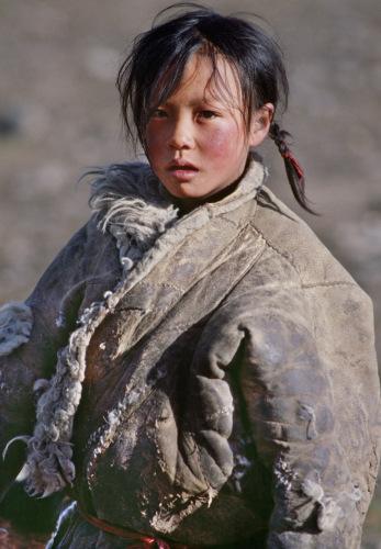 朱宪民作品《藏族小姑娘》 来源:朱宪民提供