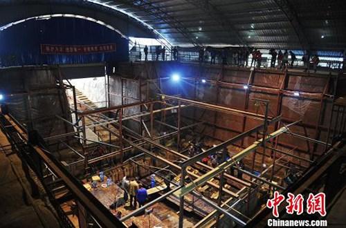 南昌西汉海昏侯墓考古发掘现场。(资料图) 记者 刘占昆 摄