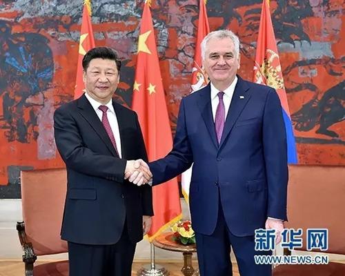 6月18日,国家主席习近平在贝尔格莱德同塞尔维亚总统尼科利奇举行会谈。(新华社记者 李涛 摄 )