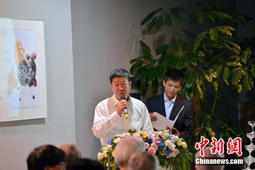 国家新闻出版广电总局副局长、国家版权局副局长、中国版权协会理事长阎晓宏在发布会现场。活动方供图