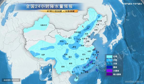 今天,福建、浙江、江蘇等省局地仍有強降雨。