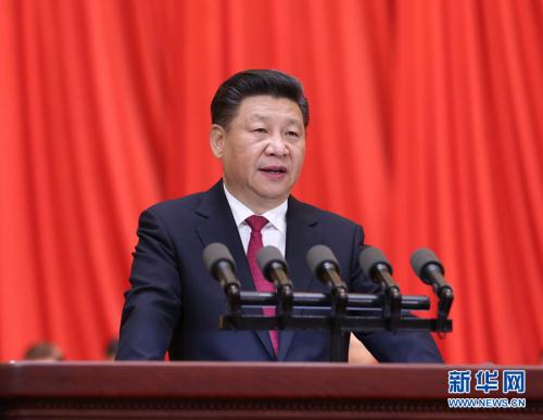 图为:2016年7月1日,庆祝中国共产党成立95周年大会在北京人民大会堂隆重举行。中共中央总书记、国家主席、中央军委主席习近平在大会上发表重要讲话。