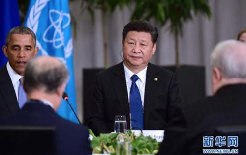 图为:2016年4月1日,国家主席习近平在华盛顿出席伊朗核问题六国机制领导人会议并发表重要讲话。