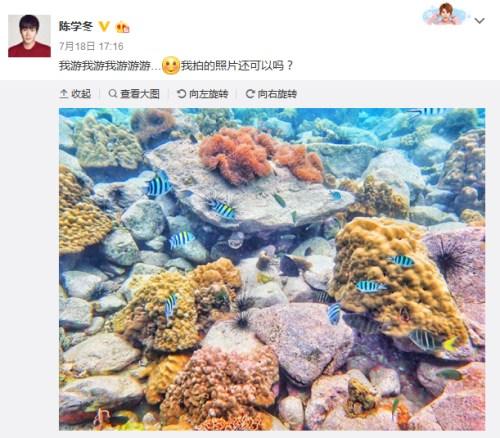 陈学冬微博截图。