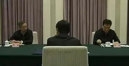 中央环保督察组在河北省约谈领导干部画面 来源:视频截图