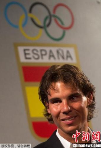 材料图:西班牙网球名将纳达尔。