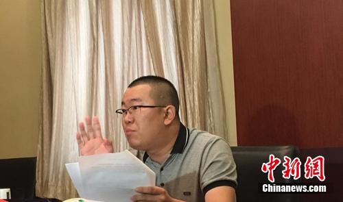"""戴九安否认是赵云侠口中的""""内奸""""。 李萌 摄"""