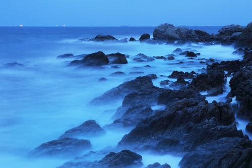 《大海的柔情》 地点:北戴河 摄影:周秦明