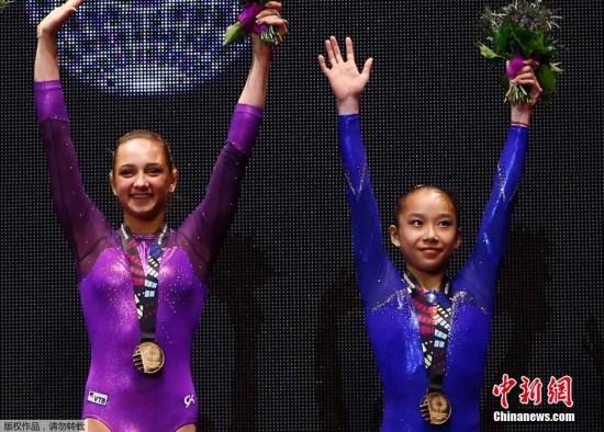去年世锦赛,范忆琳与其他三人同分同时拿到金牌,范忆琳以6.9的最高难度评分享有首个奏响国歌的待遇。