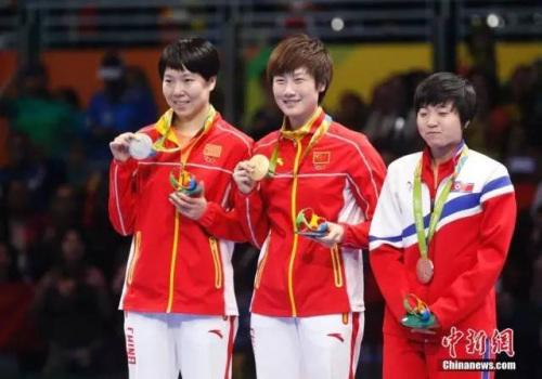 本地时刻8月10日,里约奥运会乒乓球女单决赛,最后打发4-3打败李晓霞取得冠军。中新网记者杜洋摄