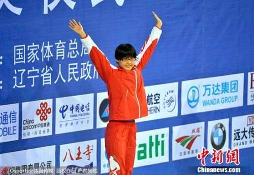 2013年9月10日,2013年第十二届全运会女子800米自由泳决赛,山东队辛鑫夺冠。 图片来源:Osports全体育图片社